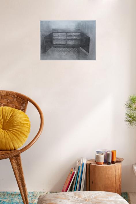 El estudio: Puertas Abiertas   Dibujo de Adrián Sánchez Encabo   Compra arte en Flecha.es