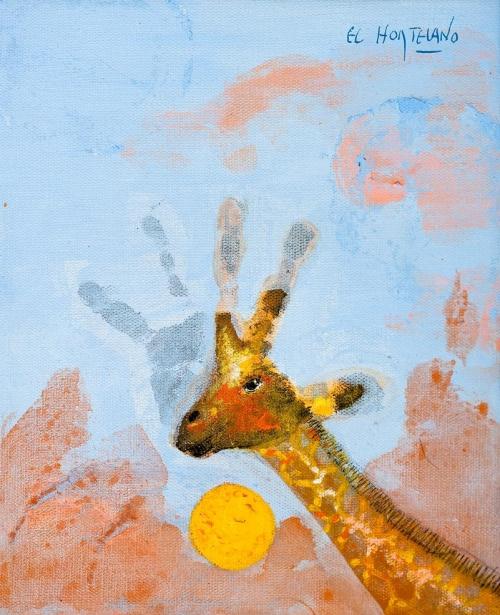 Hola (Humano-106) |Pintura de El Hortelano | Compra arte en Flecha.es