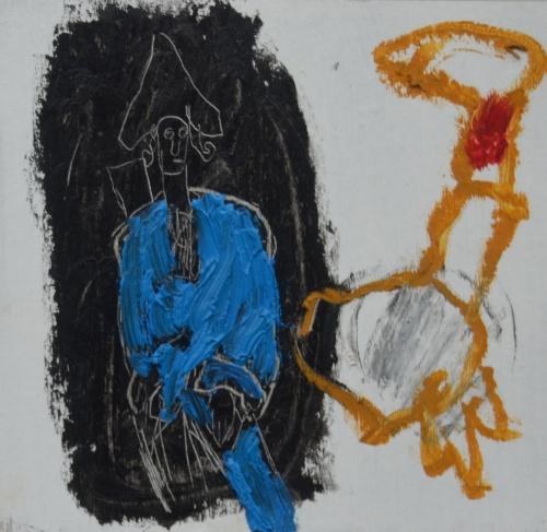 El Señor y la Señora Andrews (cartón III) |Pintura de Celia Muñoz | Compra arte en Flecha.es