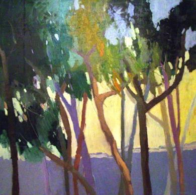 """Bosque de Pinos"" serie Bosques|PinturadeCarolina Veramendi B| Compra arte en Flecha.es"
