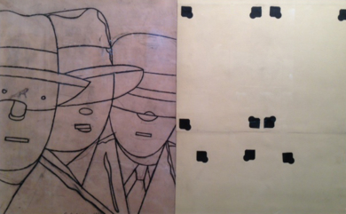 Brelan|DibujodeEduardo Arroyo| Compra arte en Flecha.es