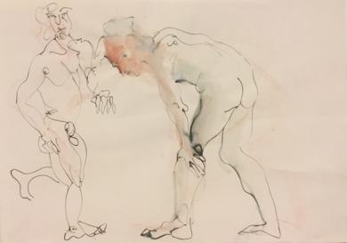 Dos|DibujodeJaelius Aguirre| Compra arte en Flecha.es