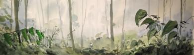 Bosque de Bangladesh|PinturadeIñigo Lizarraga| Compra arte en Flecha.es
