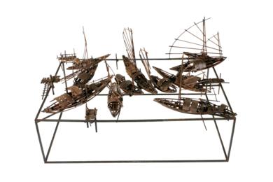 Mercado fluvial|EsculturadeFernando Suárez| Compra arte en Flecha.es