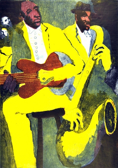 Jazz dueto IV|Obra gráficadeJenifer Elisabeth Carey| Compra arte en Flecha.es