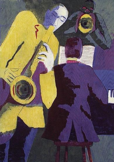 The Trio II|Obra gráficadeJenifer Elisabeth Carey| Compra arte en Flecha.es