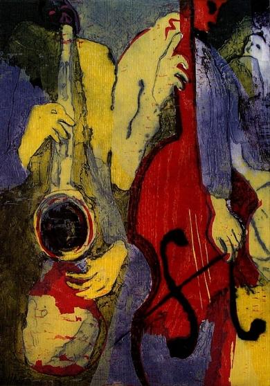 El Dueto I|Obra gráficadeJenifer Elisabeth Carey| Compra arte en Flecha.es
