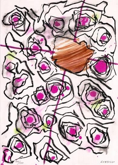 Dinámica con orquestación central|Obra gráficadeLuis Gordillo| Compra arte en Flecha.es
