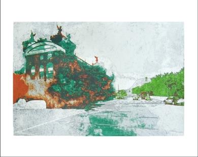Puerto Viejo (Versión 1)|Obra gráficadeJorge Castillo| Compra arte en Flecha.es