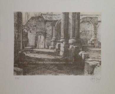 Monasterio de San Pelayo (II)|Obra gráficadeLuis Javier Gayá| Compra arte en Flecha.es