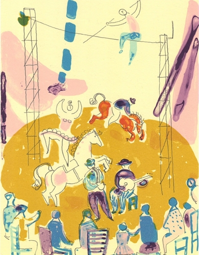 Escena circense|Obra gráficadeBelén Elorrieta| Compra arte en Flecha.es