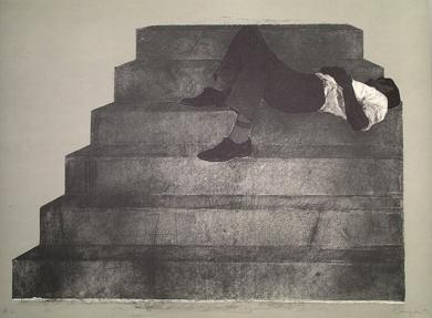 Estudio para un monumento|Obra gráficadeRafael Canogar| Compra arte en Flecha.es