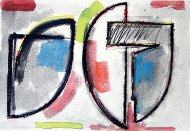Dibujo preparatorio|Obra gráficadeRafael Canogar| Compra arte en Flecha.es