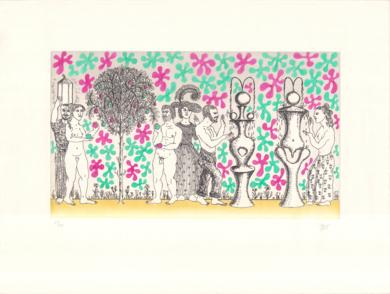 El jardín de la dualidad|Obra gráficadeGuillermo Pérez Villalta| Compra arte en Flecha.es