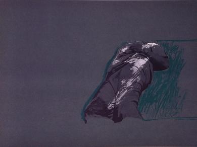 Figura sobre la hierba|Obra gráficadeRafael Canogar| Compra arte en Flecha.es