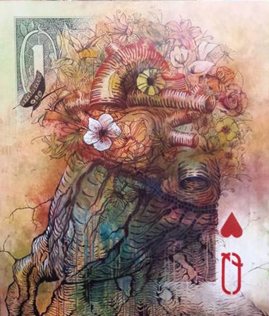 Anatomía comparada de un Corazón enraizadamente florecente|DibujodeGossediletto| Compra arte en Flecha.es