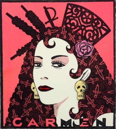 Serie: Diosas de la ópera: Carmen|Obra gráficadeFernando Bellver| Compra arte en Flecha.es