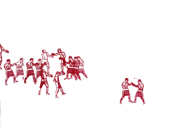 Combates|DibujodeManuel Sánchez-Algora| Compra arte en Flecha.es
