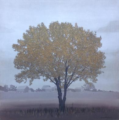 Árbol con casitas de pescador|PinturadeCharlotte Adde| Compra arte en Flecha.es