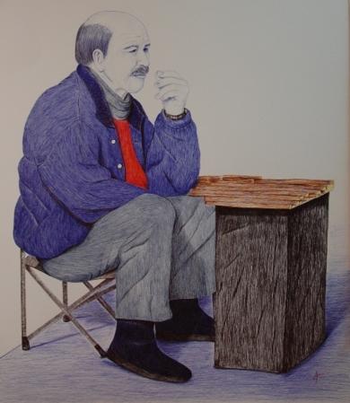 Vendedor de regaliz|DibujodeMarisa  Armero| Compra arte en Flecha.es