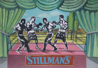 Gimnasio Stillmans|DibujodeManuel Sánchez-Algora| Compra arte en Flecha.es