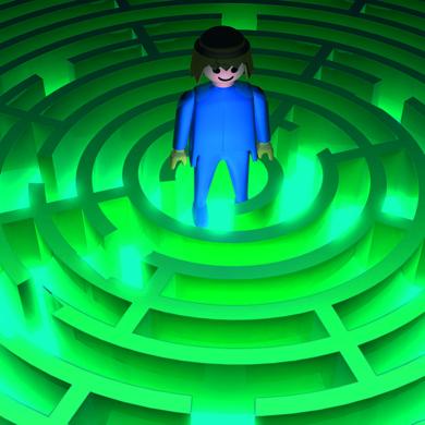 En el laberinto|DigitaldeEmilio León| Compra arte en Flecha.es