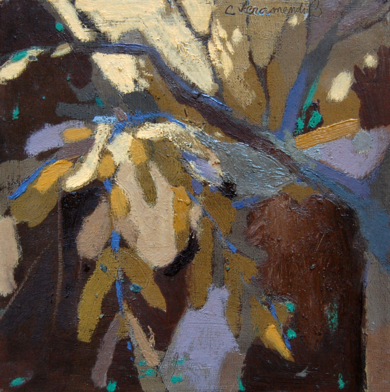 """Bosque en Marrón"" serie Bosques|PinturadeCarolina Veramendi B| Compra arte en Flecha.es"