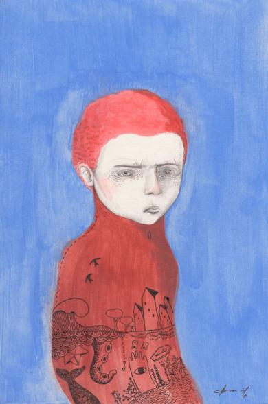 Niño sólo|DibujodeBran Sólo| Compra arte en Flecha.es