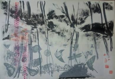La laguna del bosque|CollagedeMartmina| Compra arte en Flecha.es