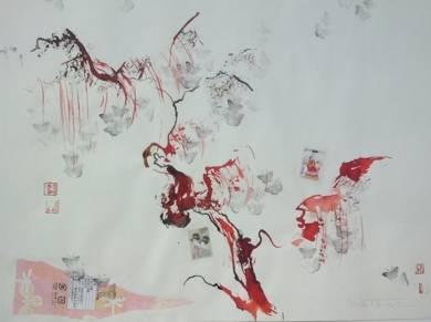 Geishas y cerezo|CollagedeMartmina| Compra arte en Flecha.es