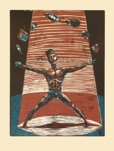 MAL-A-BARES|Obra gráficadeJaelius Aguirre| Compra arte en Flecha.es