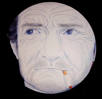 Fumando   El|DibujodeMarisa  Armero| Compra arte en Flecha.es