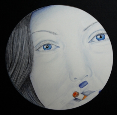 Fumando  Ella|DibujodeMarisa  Armero| Compra arte en Flecha.es