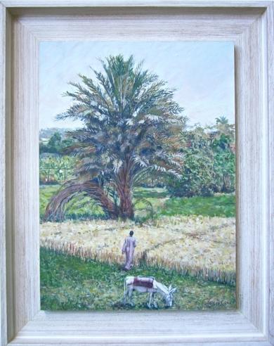 Atravesando el Trigal. Serie Burritos Egipcios.|PinturadeJaelius Aguirre| Compra arte en Flecha.es