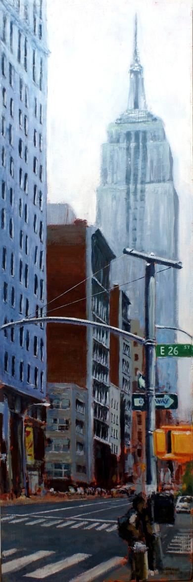 DÍA NUBLADO EN NUEVA YORK|PinturadeEnrique Pitarch| Compra arte en Flecha.es