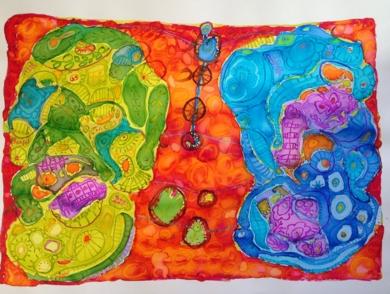 fosiles|Obra gráficadeMila Domenech| Compra arte en Flecha.es