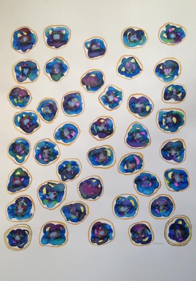 burbujas serie 1|Obra gráficadeMila Domenech| Compra arte en Flecha.es