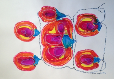 flores de loto|Obra gráficadeMila Domenech| Compra arte en Flecha.es