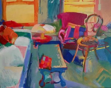 El sol de la tarde|PinturadeCarlota Rios| Compra arte en Flecha.es