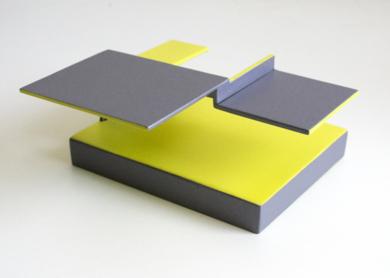 Tríptico_01. Serie Amarilla|EsculturadeCandela Muniozguren| Compra arte en Flecha.es