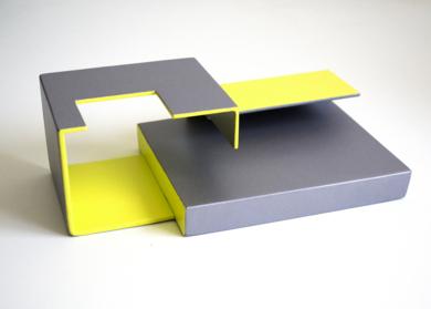 Tríptico_02. Serie Amarilla EsculturadeCandela Muniozguren  Compra arte en Flecha.es
