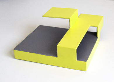 Tríptico_03. Serie Amarilla EsculturadeCandela Muniozguren  Compra arte en Flecha.es