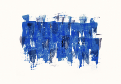 Discusión en azul|DibujodeJorge Regueira| Compra arte en Flecha.es