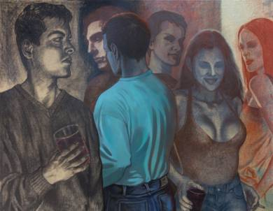 Autorretrato nocturno|DibujodeFernando Charro| Compra arte en Flecha.es