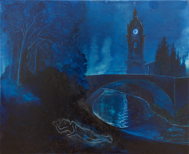 Nocturno azul|PinturadeFernando Charro| Compra arte en Flecha.es