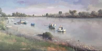 Paseo de Coria del Rio PinturadeRodríguez Lobo  Compra arte en Flecha.es