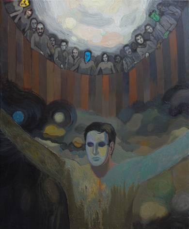El hombre de la máscara|PinturadeFernando Charro| Compra arte en Flecha.es
