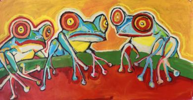 Frog|PinturadeVeo blasco| Compra arte en Flecha.es