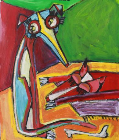 Galgos|PinturadeVeo blasco| Compra arte en Flecha.es