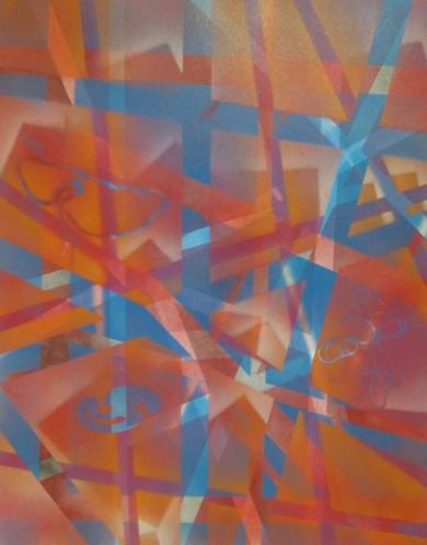 el bosque rojo|PinturadeJuan Caravaca Art| Compra arte en Flecha.es